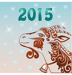 Brown new year goat vector