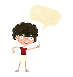 Cartoon sporty person with speech bubble vector