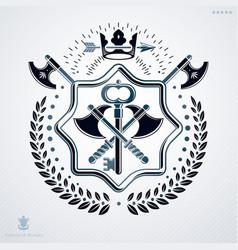 Classy emblem made with laurel leaf decoration vector