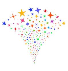 confetti stars fountain stream vector image