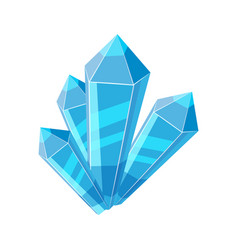 crystal stone or precious stone blue colors vector image