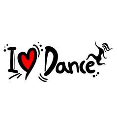 Dance love vector