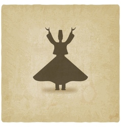 dervish dancer old background vector image