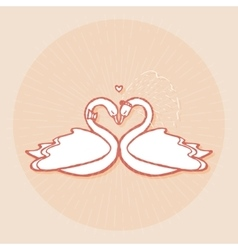 Design element for wedding greeting card vector image vector image