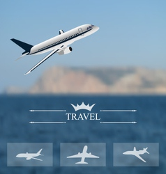 design of tickets for worldwide travel Mobile vector image