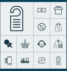 Ecommerce icons set collection of buck recurring vector