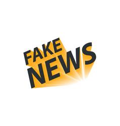 Fake news concept on white vector