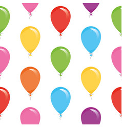 Festive seamless pattern with colorful balloons vector