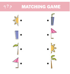 find the correct part education game for children vector image