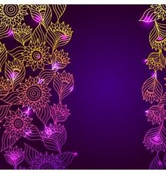 Flaral elegant lace ornament template frame vector image