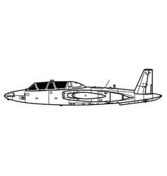 Fouga cm170 magister vector