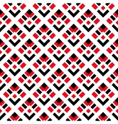 Geometric White Red Black Seamless Pattern vector image