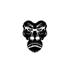 gorilla mascot sport logo vector image