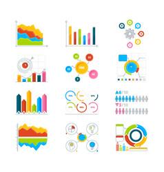 graphics charts and diagrams drawing vector image