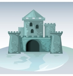 Gray brick castle vector image