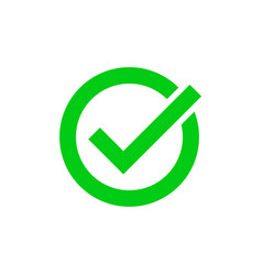 green tick marker checkmark circle icon vector image