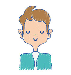 Happy man with elegant clothes and hairstyle vector
