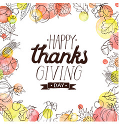 Happy thanks giving vector
