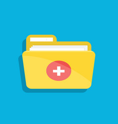 icon of the medical folder for documents for web vector image