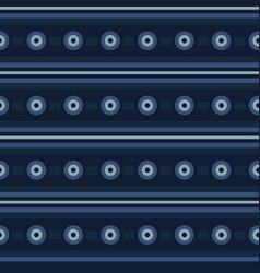 Indigo blue circle stripes seamless pattern vector