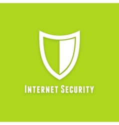 Internet security flat icon on green background vector