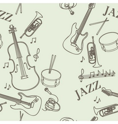 jazz instruments pattern vector image