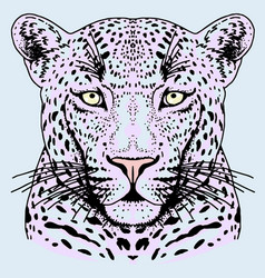 Leopard face tattoo print vector