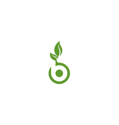 letter b nature leaf logo vector image