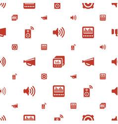 loudspeaker icons pattern seamless white vector image
