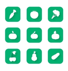 Modern flat icons - a healthy lifestyle proper vector image