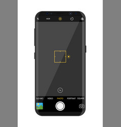 modern smartphone with camera application vector image