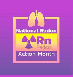 National radon action month icon design logo vector