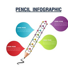 Pencil Info Graphic Color Presentation vector image