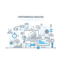 performance analysis research calculations vector image