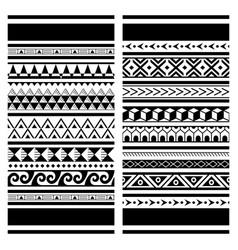 Polynesian maori tattoo seamless pattern vector
