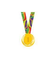 School medal symbol to intelligent student vector