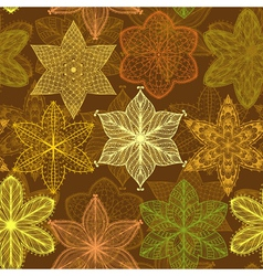 Seamless vintage beige hand drawn pattern vector image