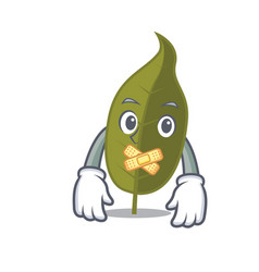 Silent bay leaf mascot cartoon vector