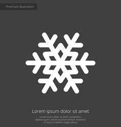 snowflake premium icon white on dark background vector image