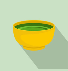 spinach soup icon flat style vector image