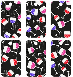 Tags with wineglasses vector