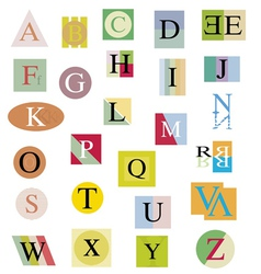 The original alphabet from bright abstract letters vector