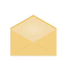 the yellow envelope is empty vector image