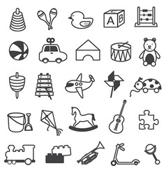 Toys Icons Collection vector