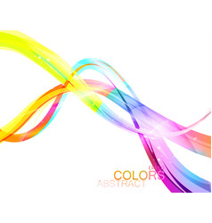 Translucent colors on a white vector