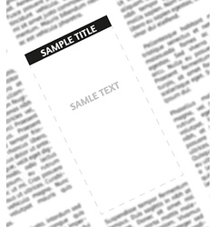 unsharp newspaper vector image