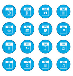 Web document icon blue vector