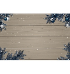 Winter wooden background vector image