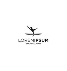 woman yoga fitness silhouette logo vector image