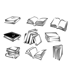 Books and magazines vector image vector image